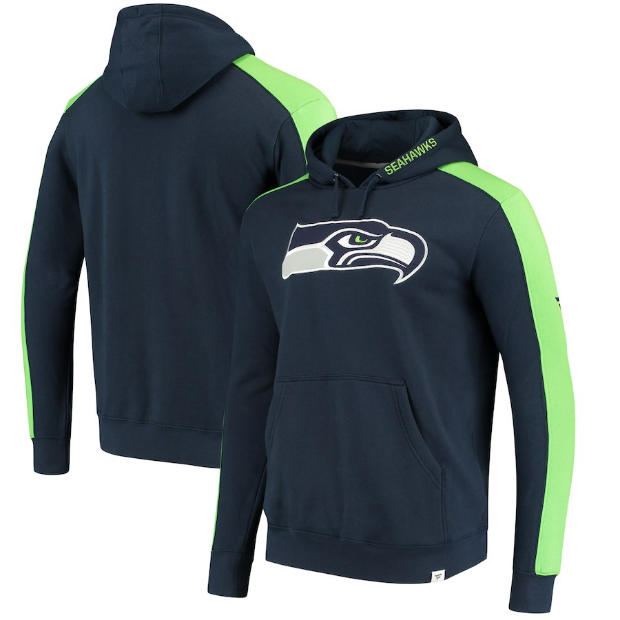 Seattle Seahawks NFL Pro Line by Fanatics Branded Iconic Pullover Hoodie Navy