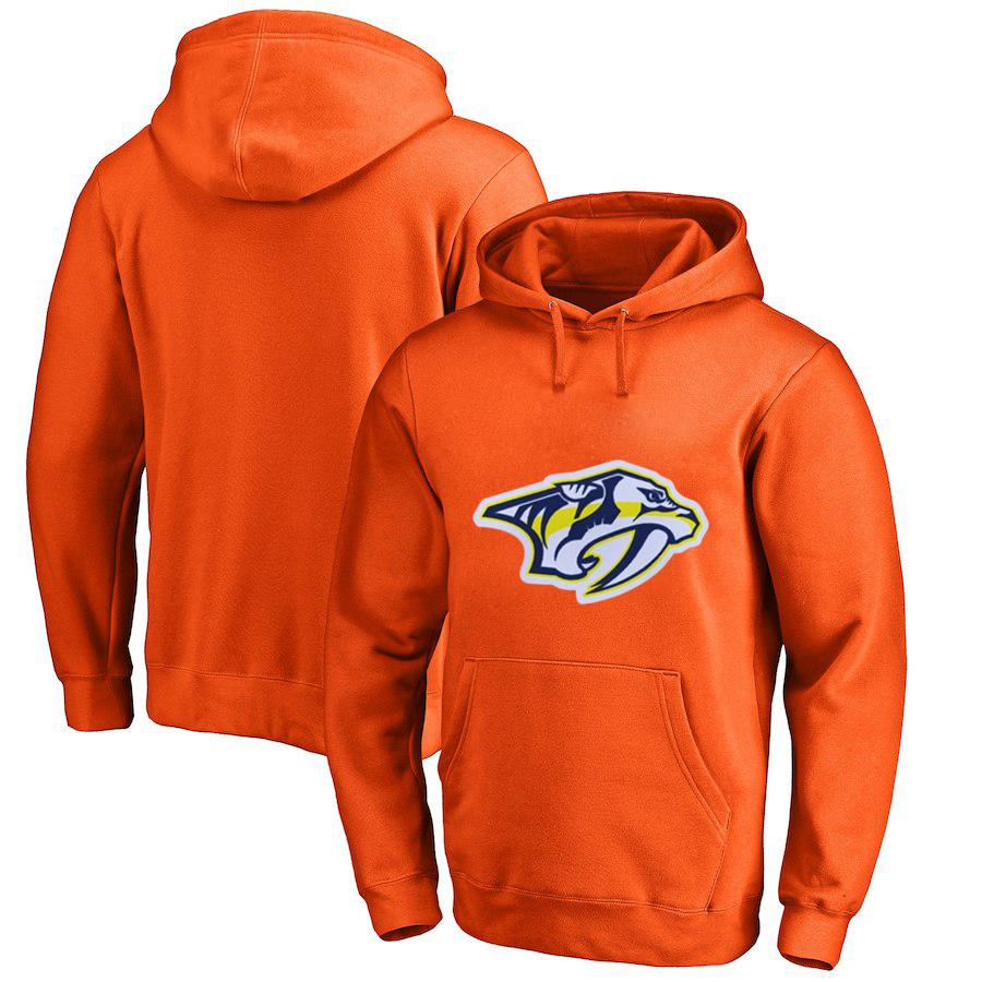 Nashville Predators Orange All Stitched Pullover Hoodie