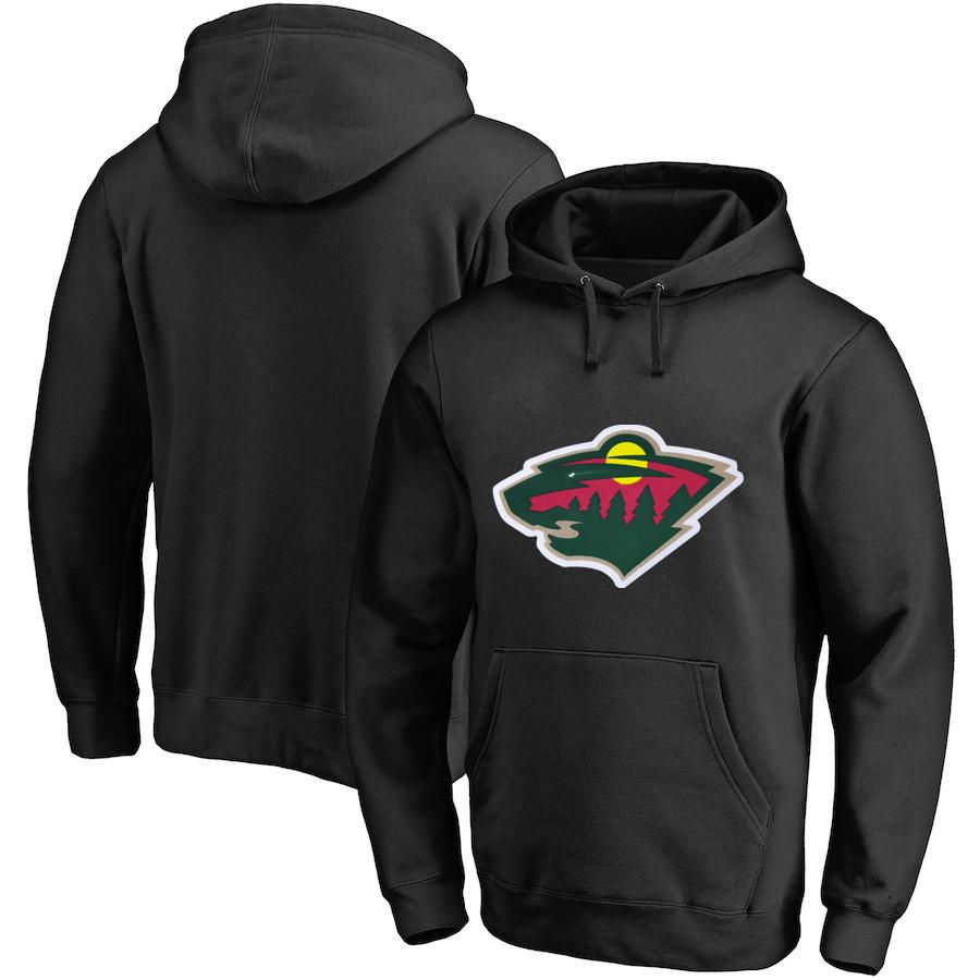 Winnipeg Jets Dark Black All Stitched Pullover Hoodie