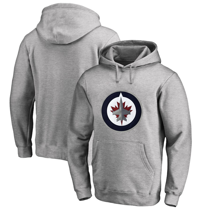 Winnipeg Jets Gray All Stitched Pullover Hoodie