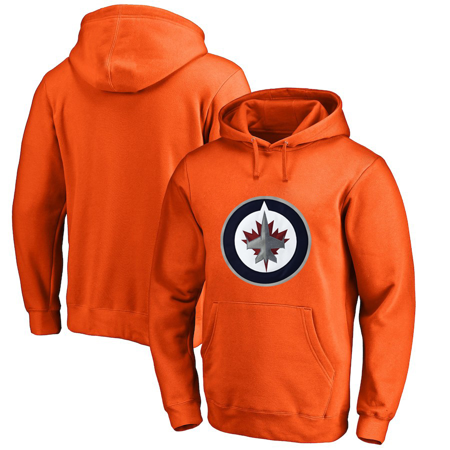 Winnipeg Jets Orange All Stitched Pullover Hoodie