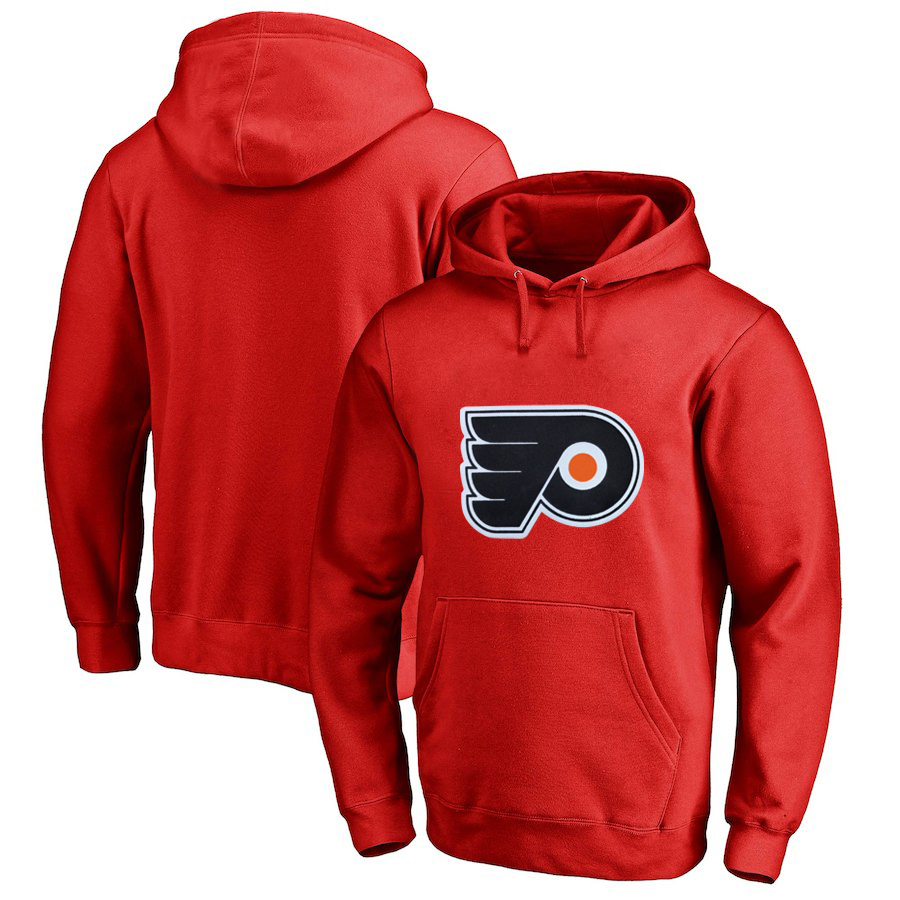 Philadelphia Flyers Red Men's Customized All Stitched Pullover Hoodie
