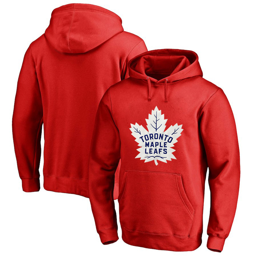 Toronto Maple Leafs Red Men's Customized All Stitched Pullover Hoodie