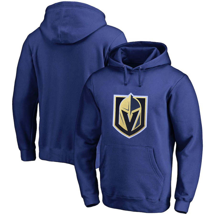 Vegas Golden Knights Blue Men's Customized All Stitched Pullover Hoodie