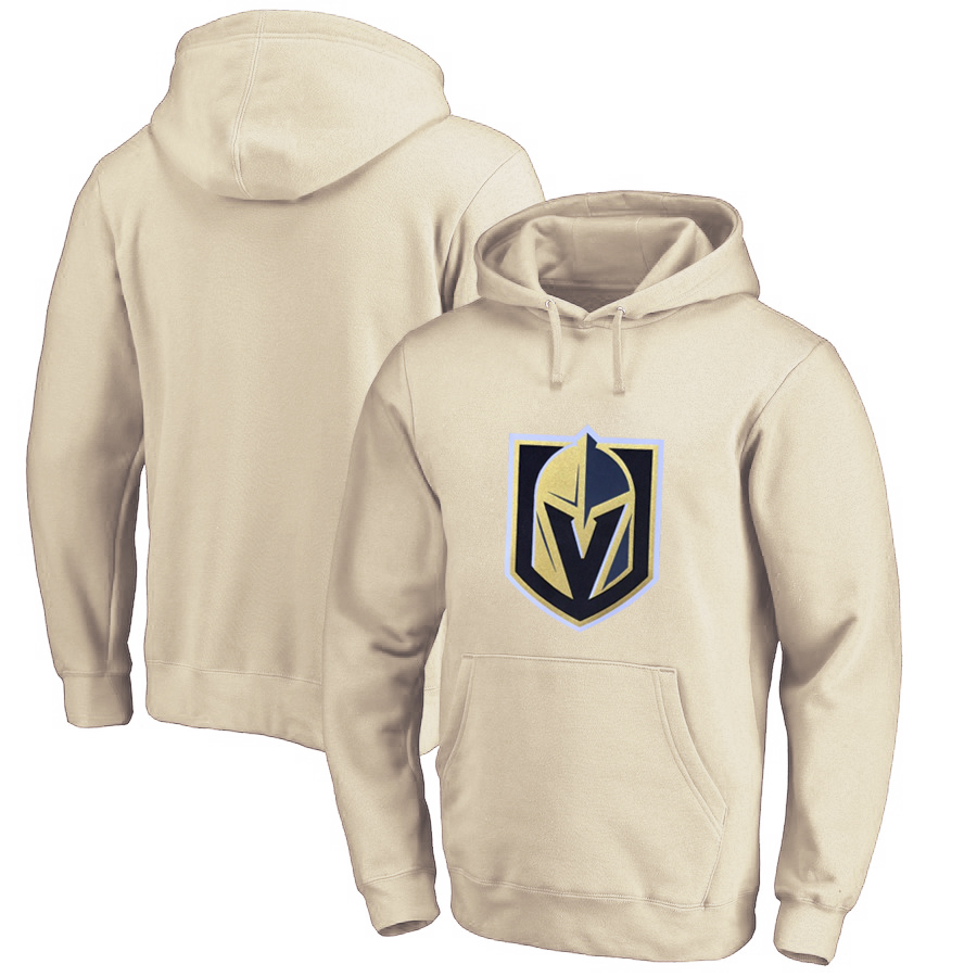 Vegas Golden Knights Cream Men's Customized All Stitched Pullover Hoodie