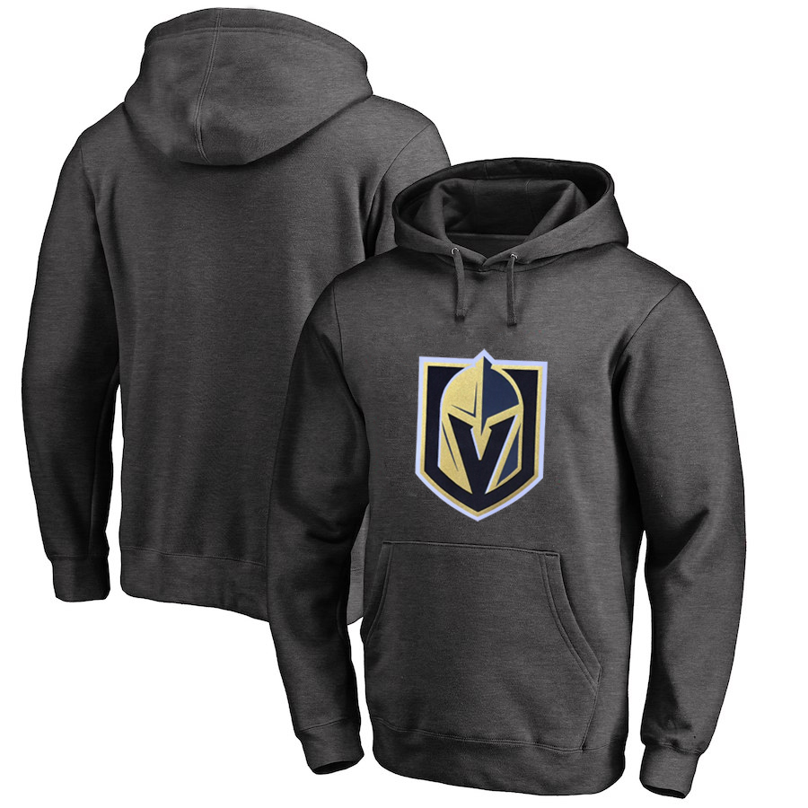 Vegas Golden Knights Dark Gray Men's Customized All Stitched Pullover Hoodie