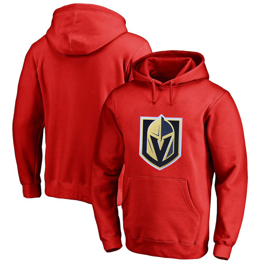 Vegas Golden Knights Red Men's Customized All Stitched Pullover Hoodie