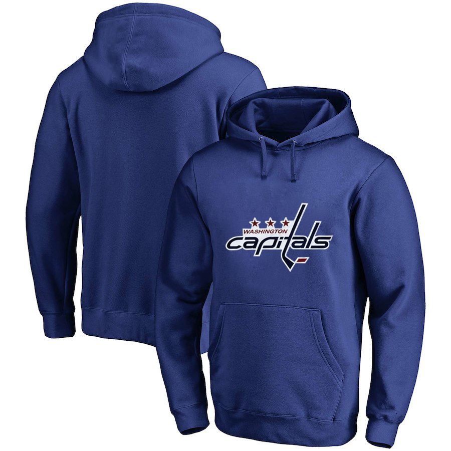 Washington Capitals Blue Men's Customized All Stitched Pullover Hoodie