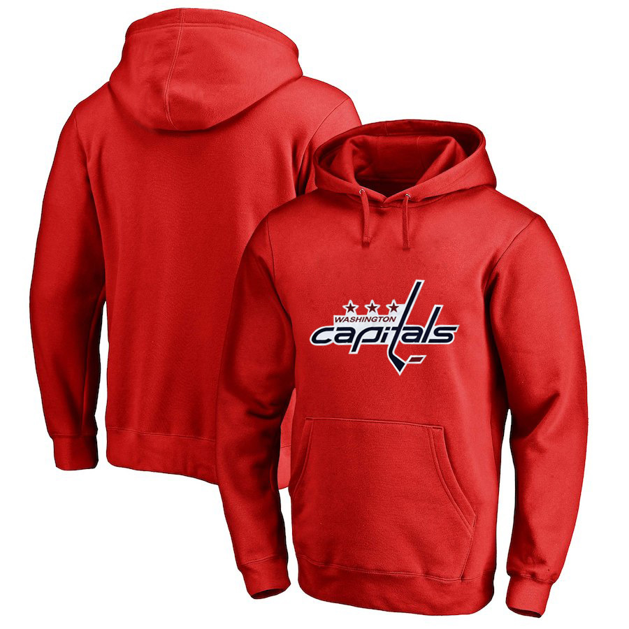 Washington Capitals Red Men's Customized All Stitched Pullover Hoodie