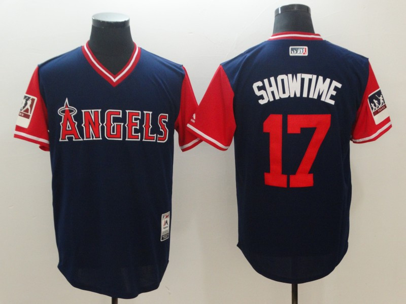 Angels 17 Shohei Ohtani Showtime Navy 2018 Players' Weekend Authentic Team Jersey