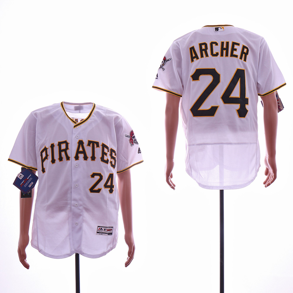 Pirates 24 Chris Archer White Flexbase Jersey