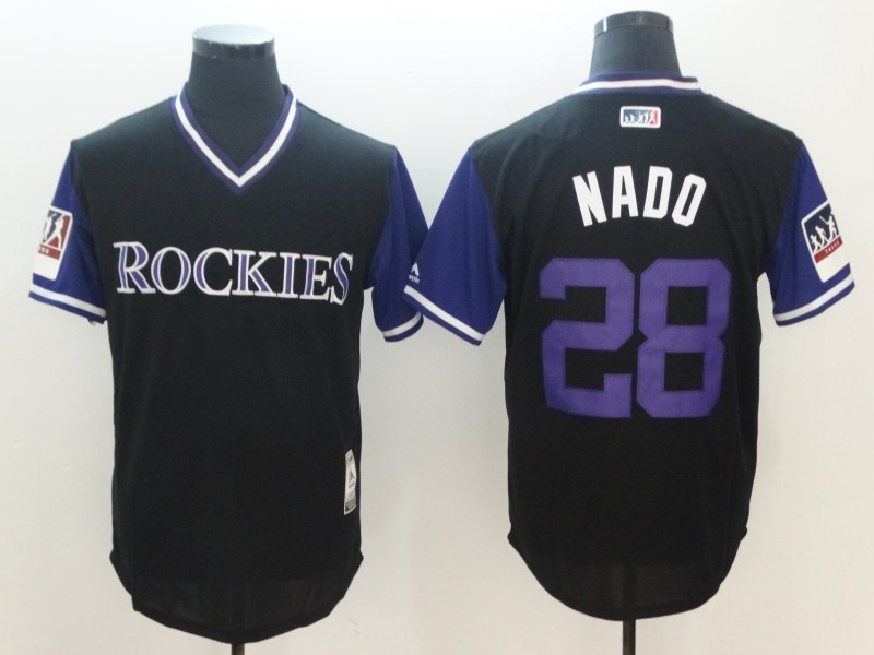 Rockies 28 Nolan Arenado Nado Black 2018 Players' Weekend Authentic Team Jersey
