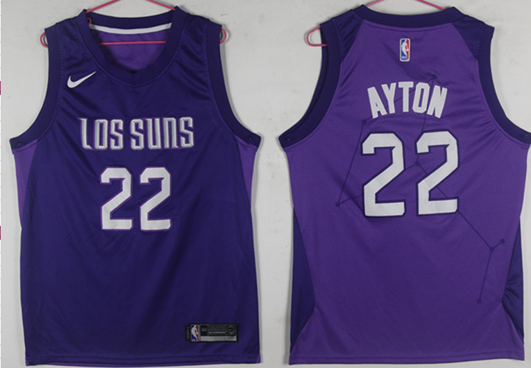 Suns 22 Deandre Ayton Purple City Edition Nike Swingman Jersey