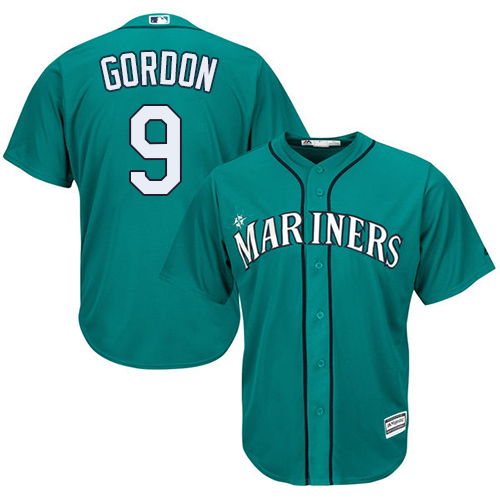 Mariners 9 Dee Gordon Green Cool Base Jersey