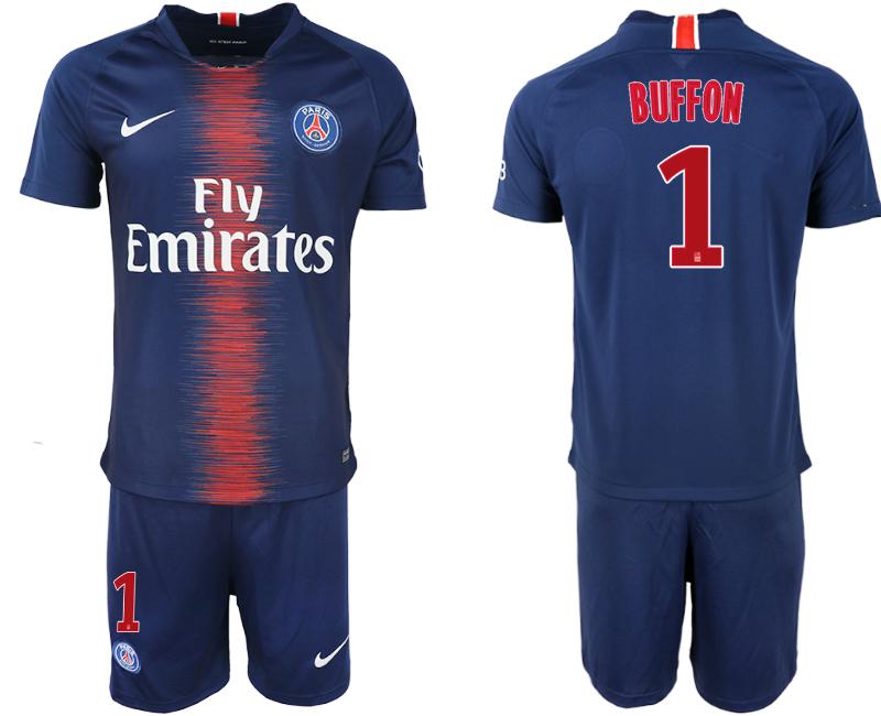 2018-19 Paris Saint-Germain 1 BUFFON Home Soccer Jersey