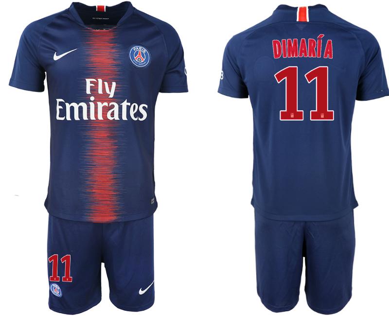 2018-19 Paris Saint-Germain 11 DIMARIA Home Soccer Jersey
