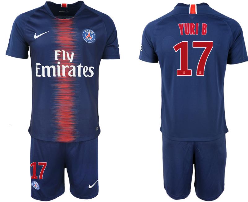 2018-19 Paris Saint-Germain 17 YURI B Home Soccer Jersey