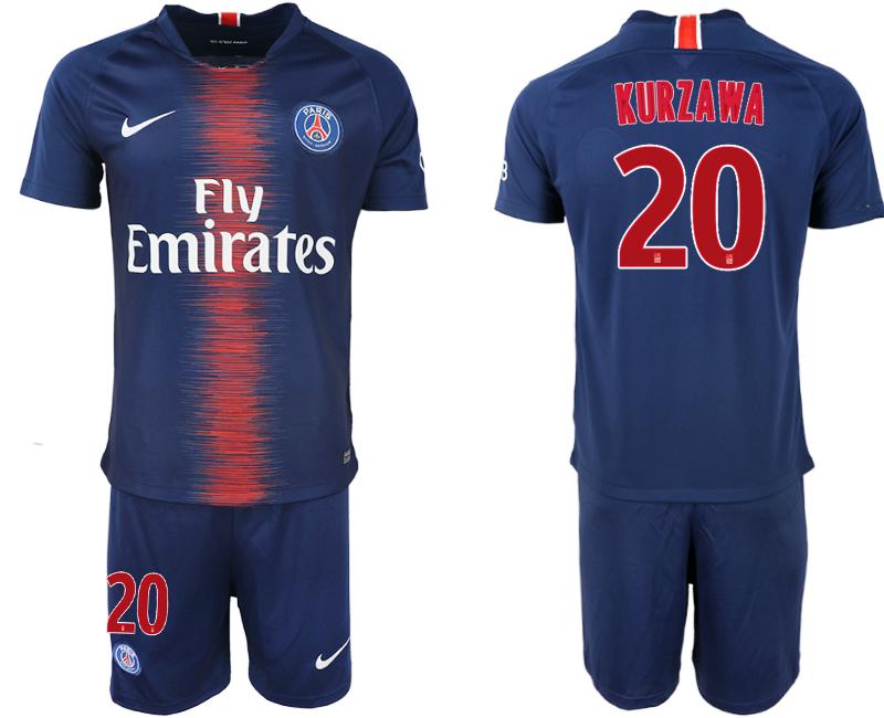 2018-19 Paris Saint-Germain 20 KURZAWA Home Soccer Jersey