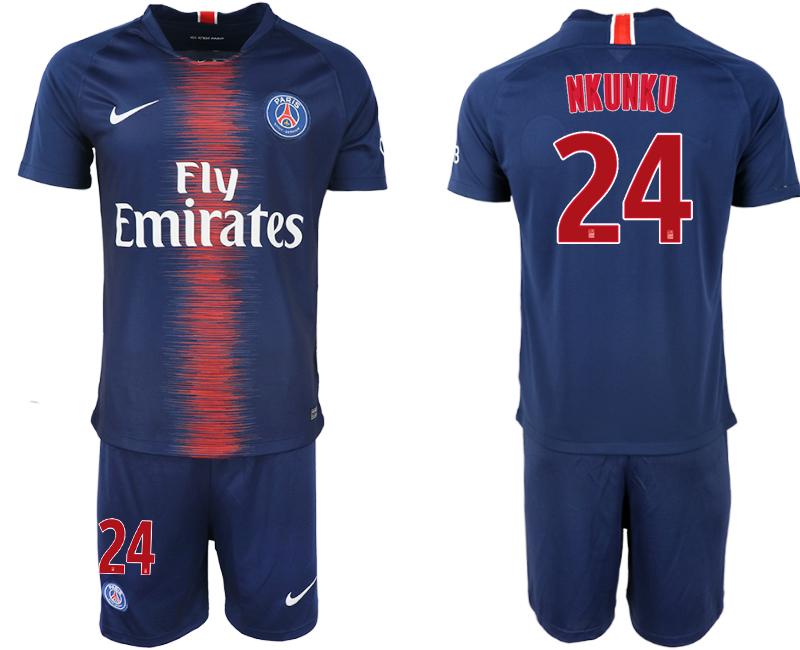2018-19 Paris Saint-Germain 24 NKUNKU Home Soccer Jersey