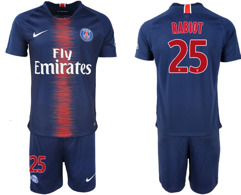2018-19 Paris Saint-Germain 25 RABIOT Home Soccer Jersey