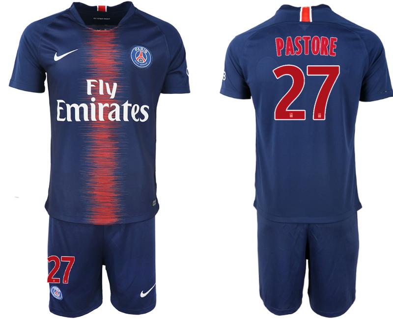 2018-19 Paris Saint-Germain 27 PASTORE Home Soccer Jersey