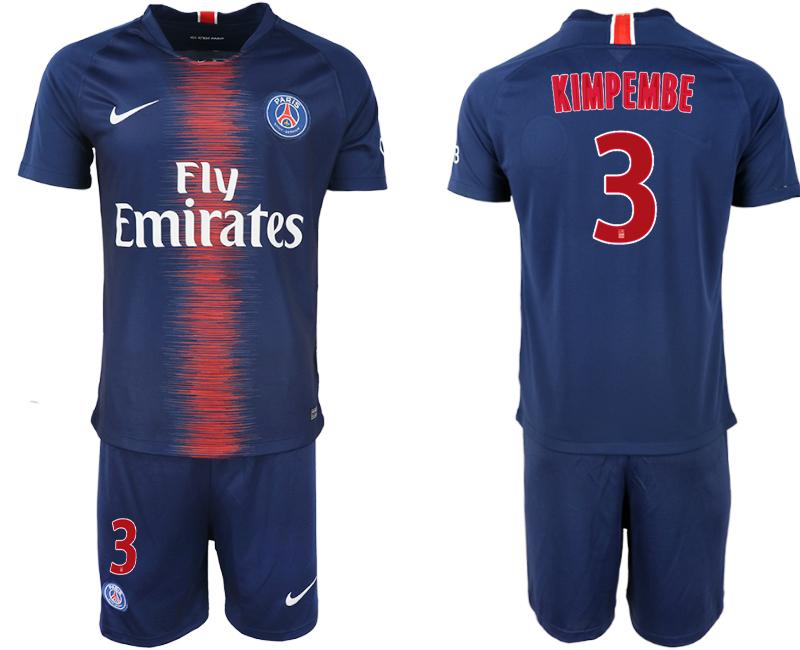 2018-19 Paris Saint-Germain 3 KIMPEMBE Home Soccer Jersey