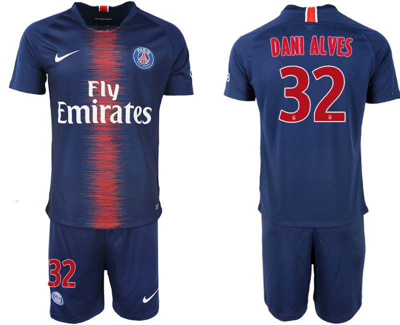 2018-19 Paris Saint-Germain 32 DANI ALVES Home Soccer Jersey