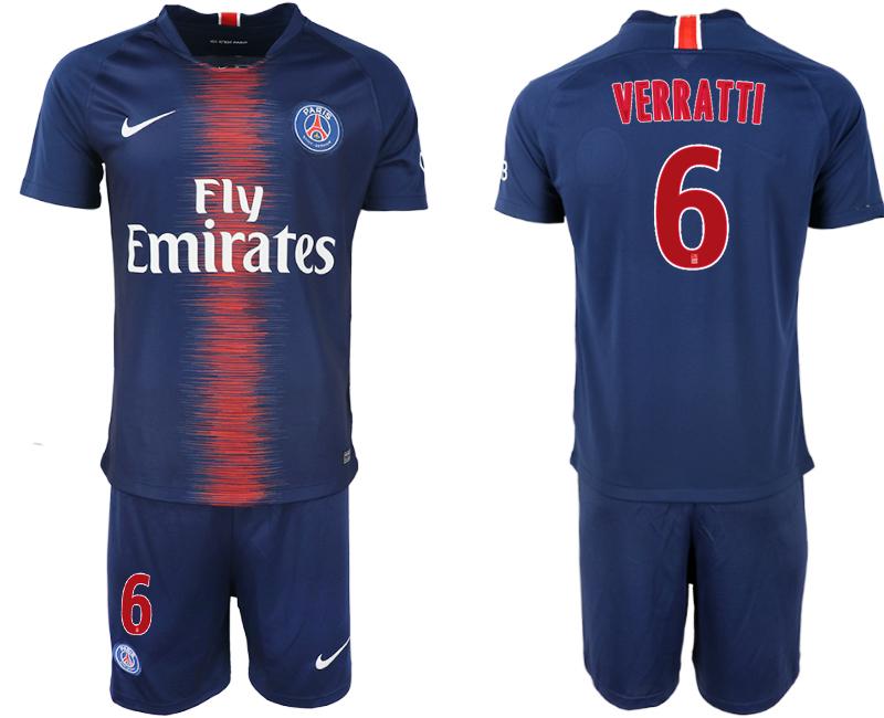 2018-19 Paris Saint-Germain 6 VERRATTI Home Soccer Jersey