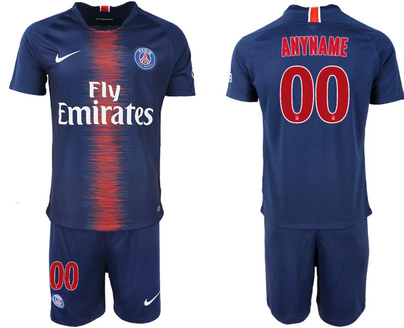2018-19 Paris Saint-Germain Customized Home Soccer Jersey