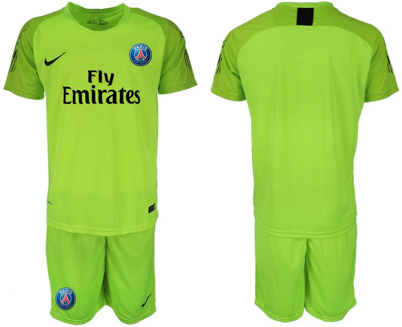 2018-19 Paris Saint-Germain Home Fluorescent Green Goalkeeper Soccer Jersey