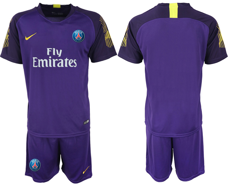 2018-19 Paris Saint-Germain Home Violet Goalkeeper Soccer Jersey