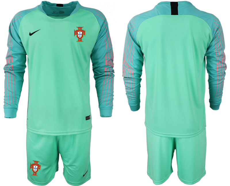 Portugal 2018 FIFA World Cup Green Goalkeeper Long Sleeve Soccer Jersey