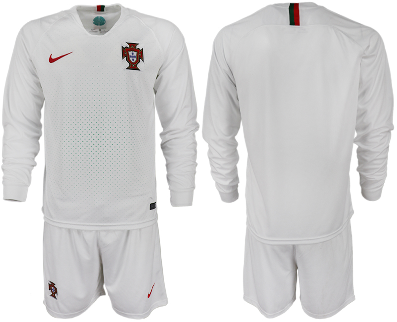 Portugal Away 2018 FIFA World Cup Long Sleeve Soccer Jersey