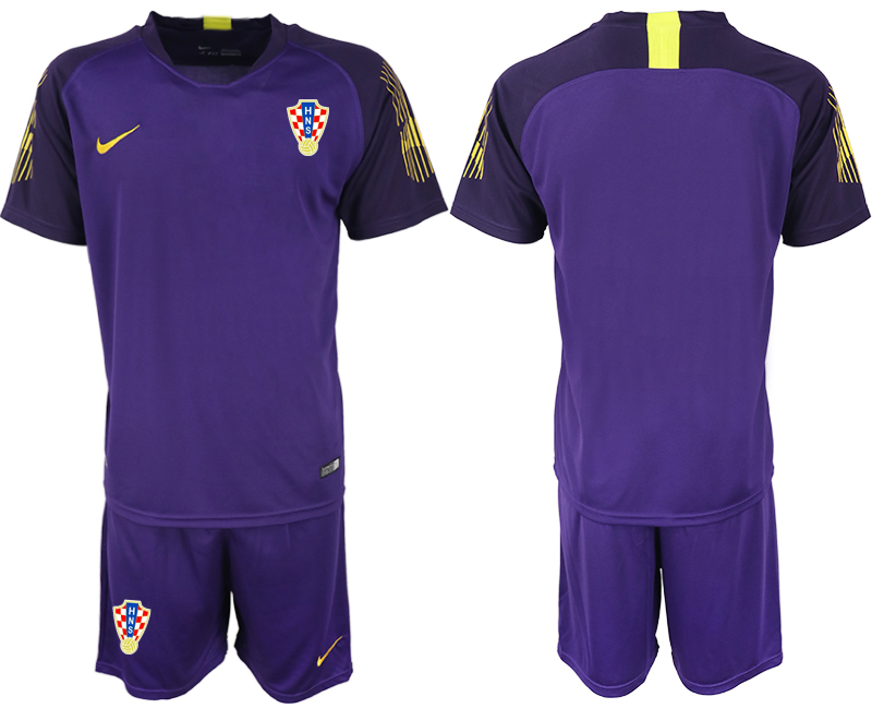 Croatia 2018 FIFA World Cup Violet Goalkeeper Soccer Jersey