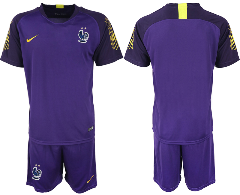 France 2018 FIFA World Cup Violet Goalkeeper Soccer Jersey