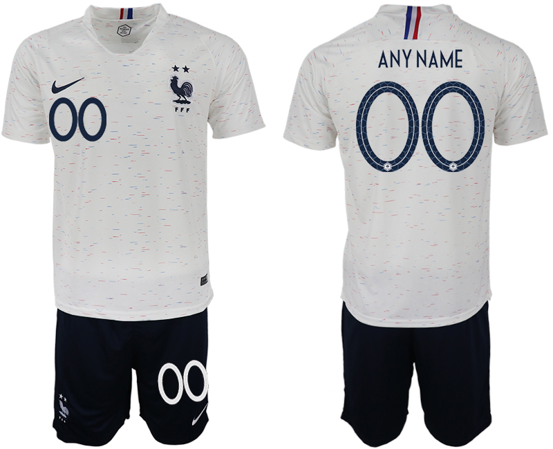 France Away 2018 FIFA World Cup Customized Soccer Jersey