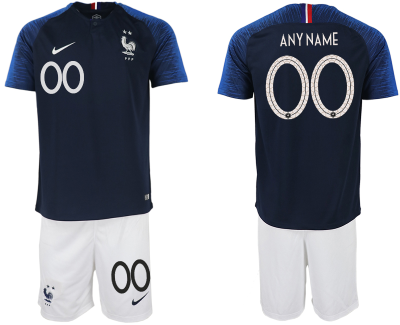 France Customized Home 2018 FIFA World Cup Soccer Jersey