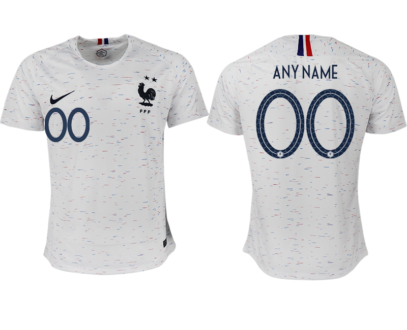 France Customized Away 2018 FIFA World Cup Thailand Soccer Jersey