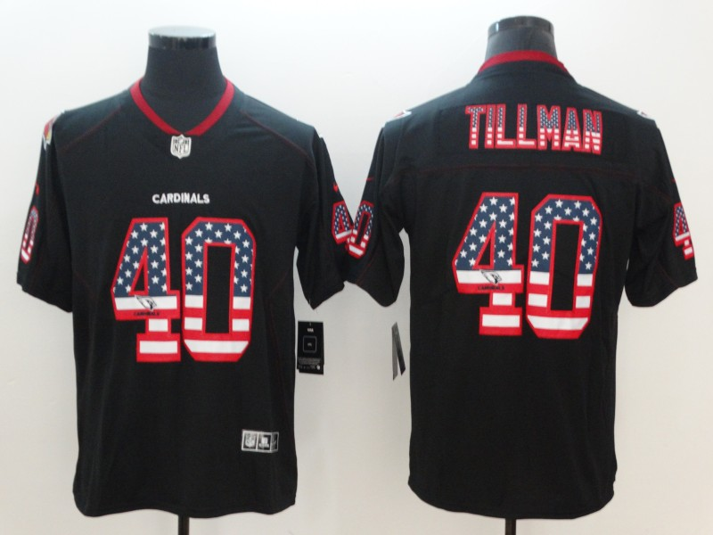 Nike Cardinals 40 Pat Tillman Black USA Flag Fashion Limited Jersey
