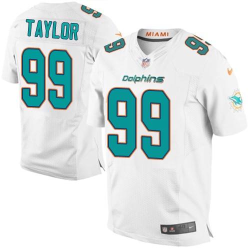 Nike Dolphins 99 Jason Taylor White Elite Jerseys
