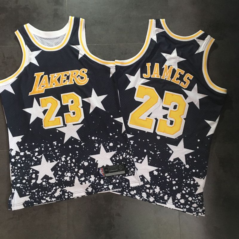 Lakers 23 Lebron James Black Independence Day Stitched Basketball Jersey
