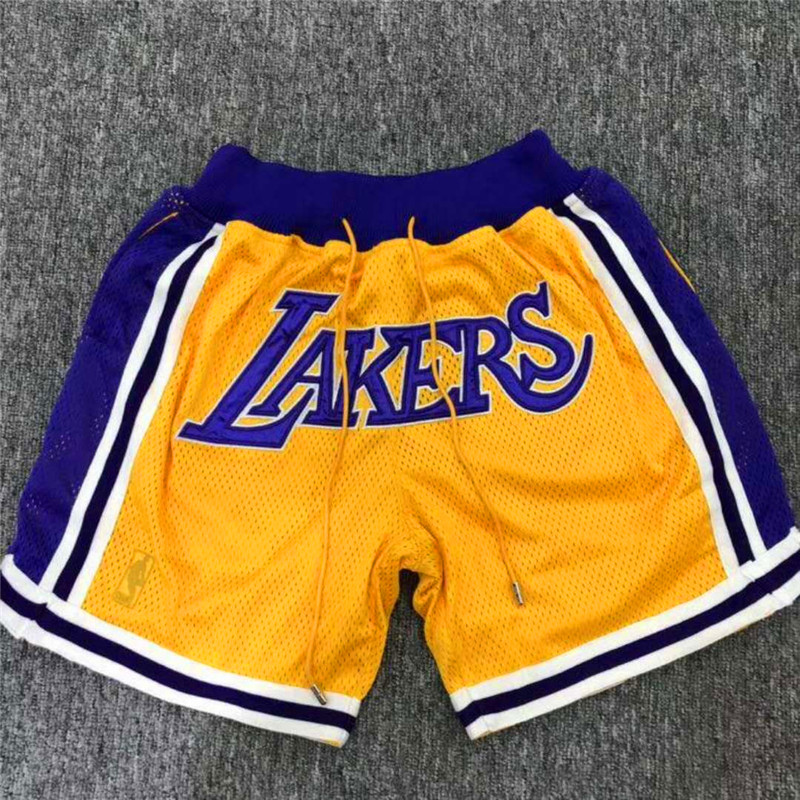 Lakers Gold 1996-97 Mesh Shorts