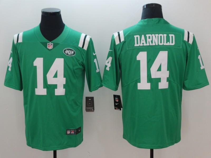 Nike Jets 14 Sam Darnold Green Vapor Untouchable Limited Jersey