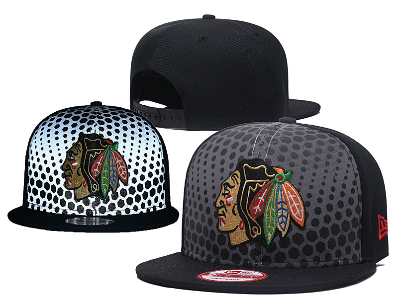 Blackhawks Team Logo Black Adjustable Hat GS