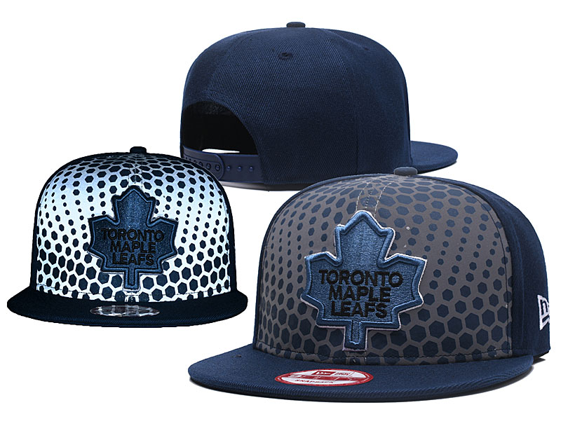 Maple Leafs Team Logo Black Adjustable Hat GS