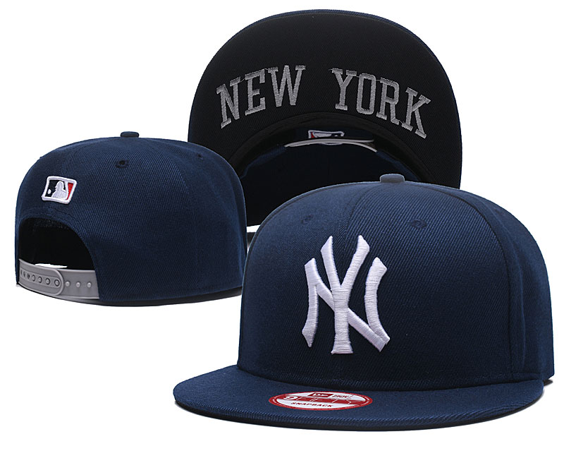 Yankees Team Logo Navy Adjustable Hat GS