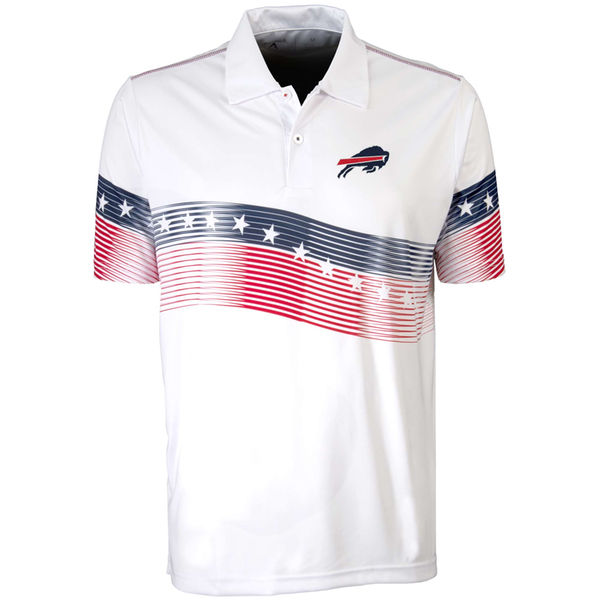 Antigua Buffalo Bills White Patriot Polo Shirt