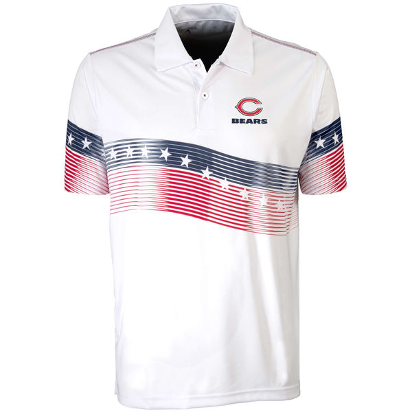 Antigua Chicago Bears White Patriot Polo Shirt