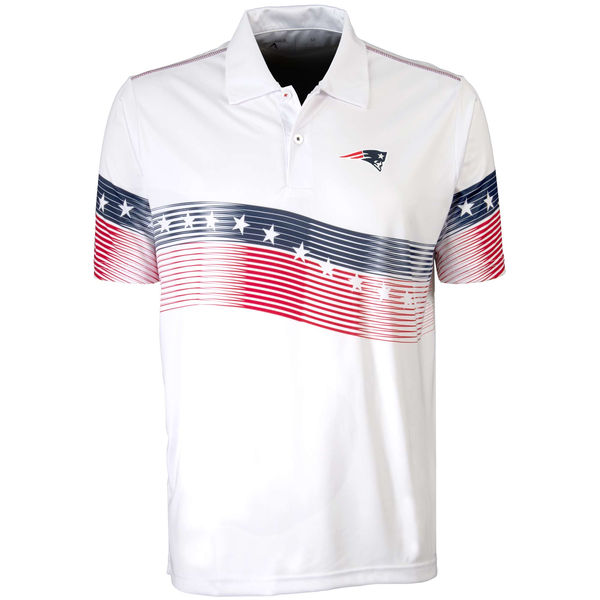 Antigua New England Patriots White Patriot Polo Shirt