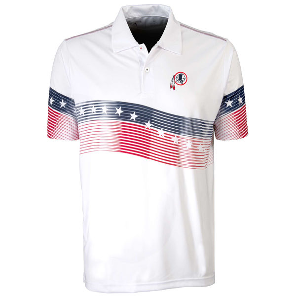Antigua Washington Redskins White Patriot Polo